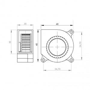 Ventilateur 4020 S